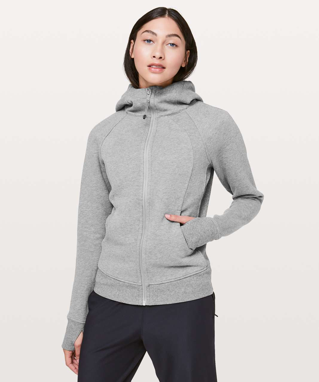 Lululemon Scuba Hoodie *Light Cotton Fleece - Heathered Core Medium Grey / Raceway Grey