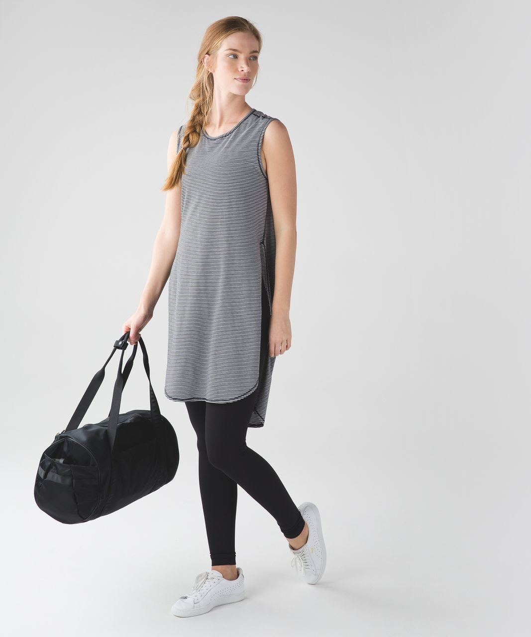 Lululemon Breeze By Tunic - Mini Pop Stripe Black White