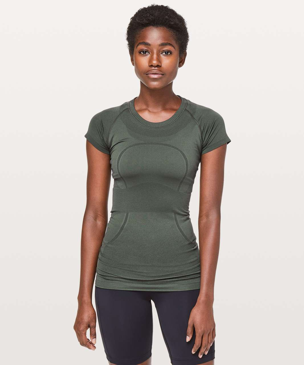 Lululemon Swiftly Tech Short Sleeve Crew - Camo Green / Camo Green