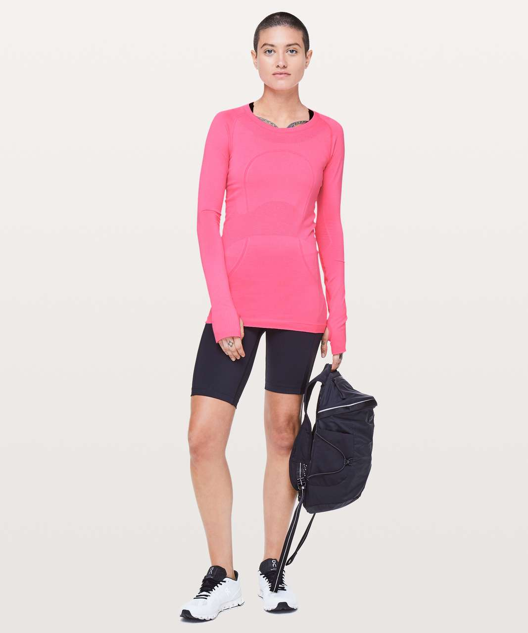 Lululemon Swiftly Tech Long Sleeve Crew - Zing Pink Light / Zing Pink Light