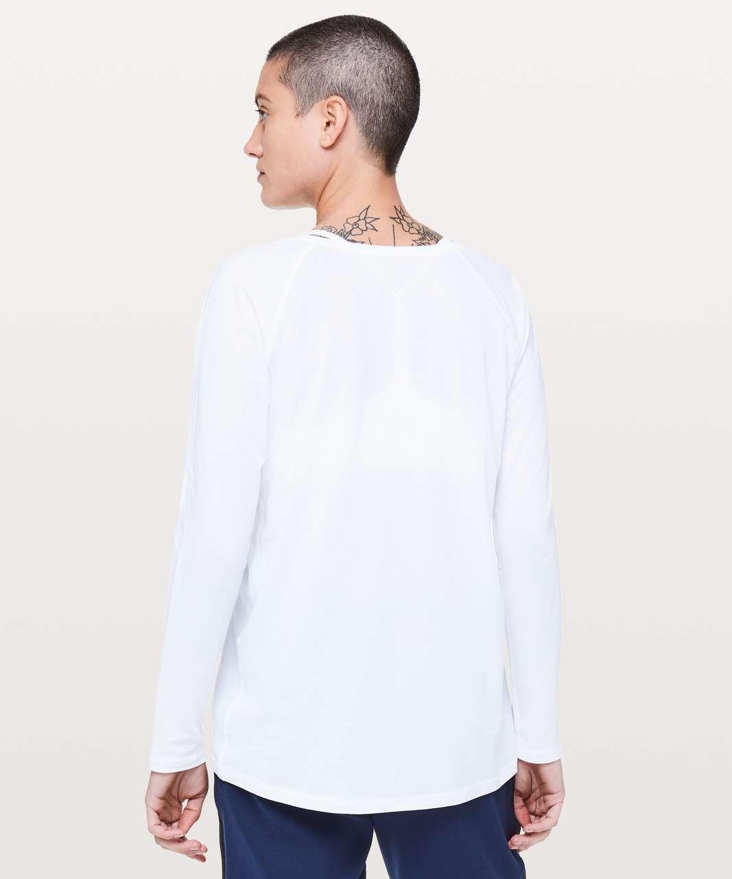 Lululemon Emerald Long Sleeve - White (Second Release)