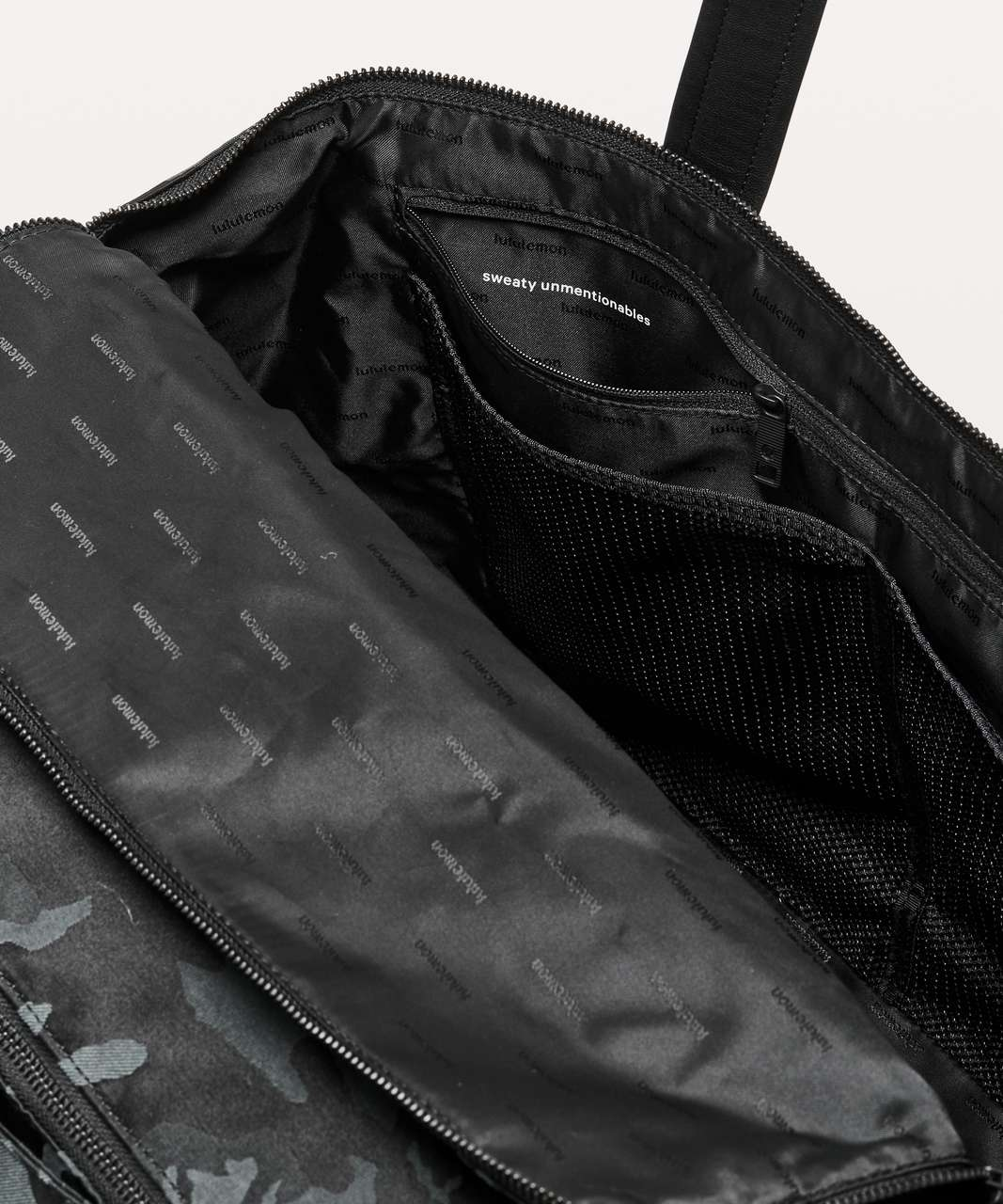 Lululemon Out Of Range Bag *28L - Jacquard Camo Cotton Obsidian / Black