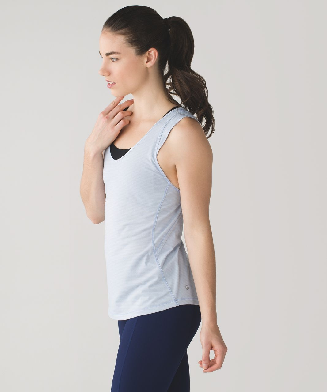 Lululemon Sweat It Out Tank - Heathered Chalk