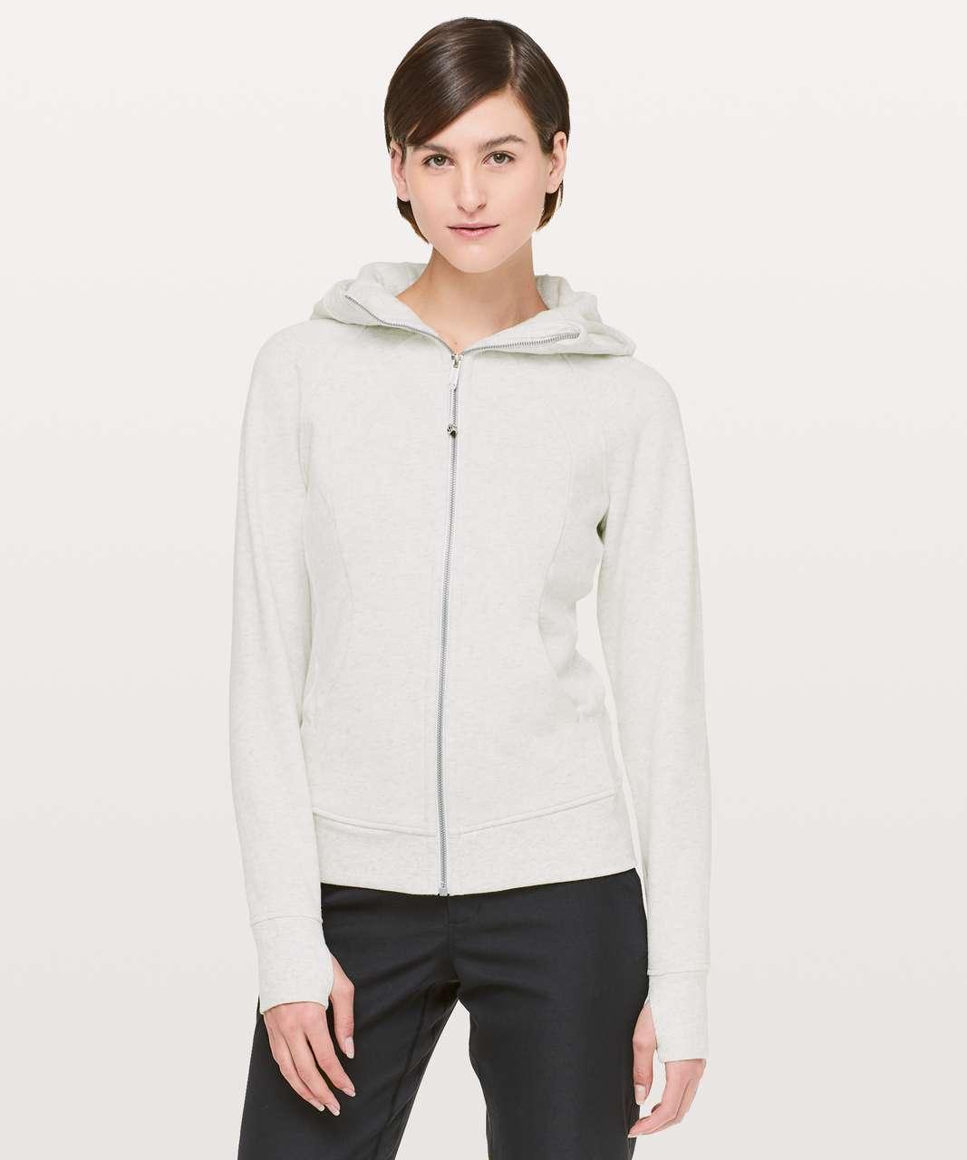 Lululemon Scuba Hoodie *Light Cotton Fleece - Heathered White