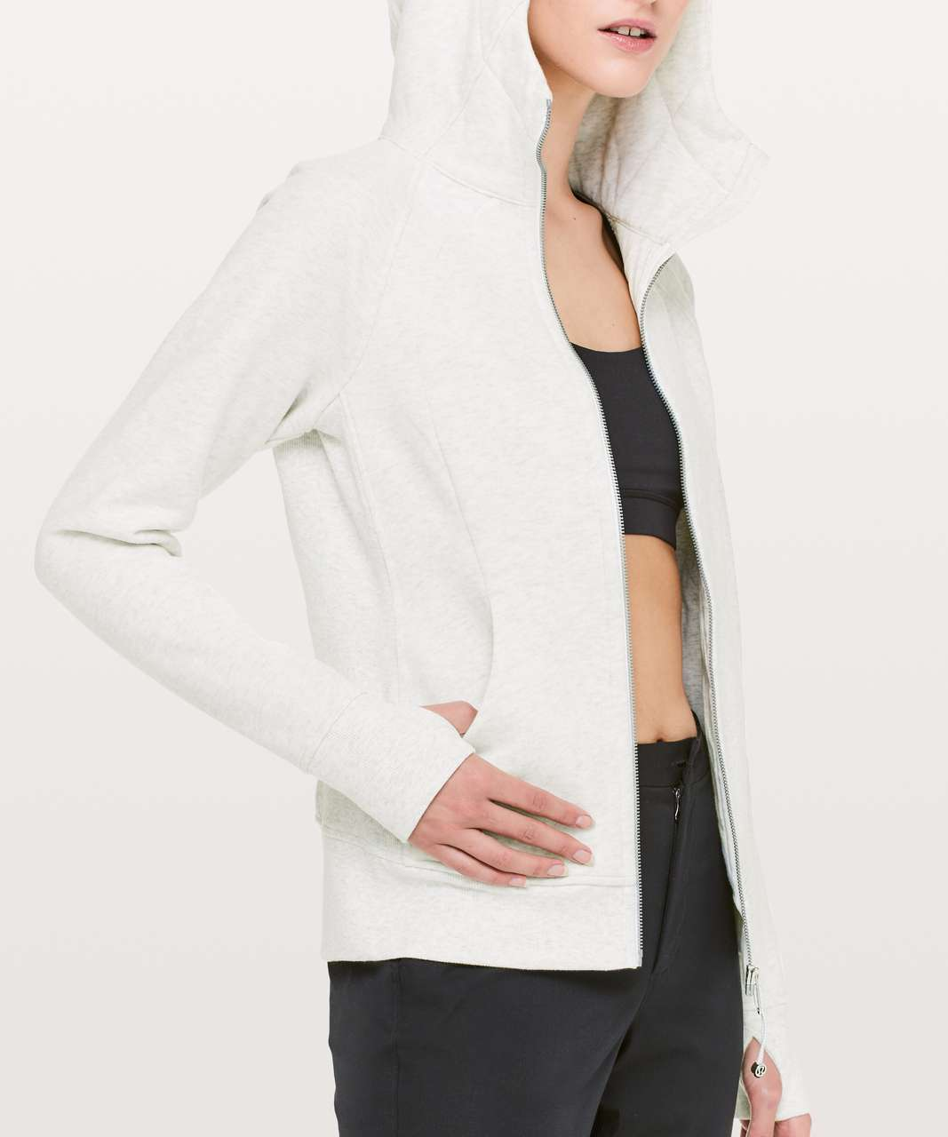 Lululemon Scuba Hoodie *Light Cotton Fleece - Heathered White