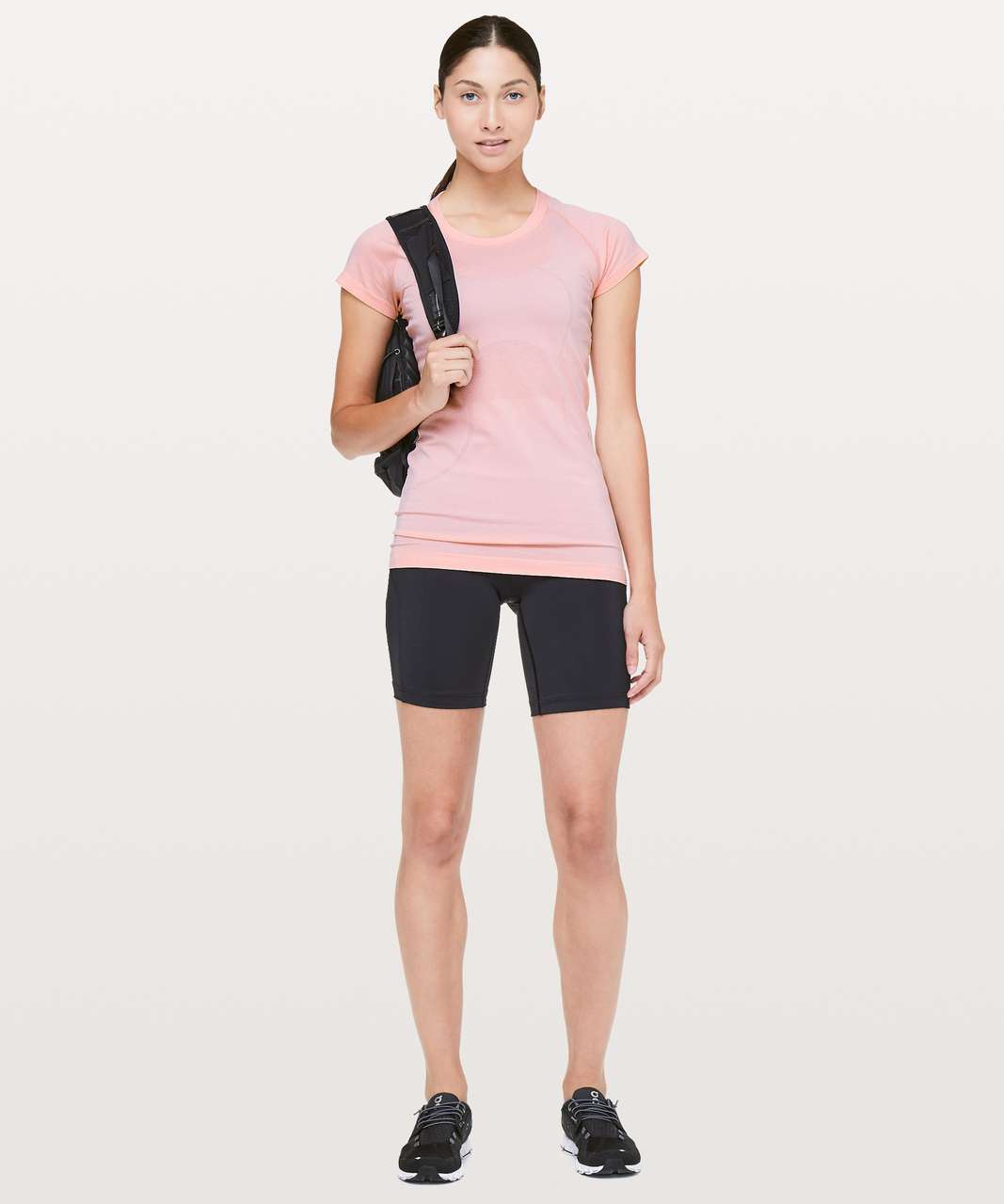 Lululemon Swiftly Tech Short Sleeve Crew - Dusty Pink / Dusty Pink