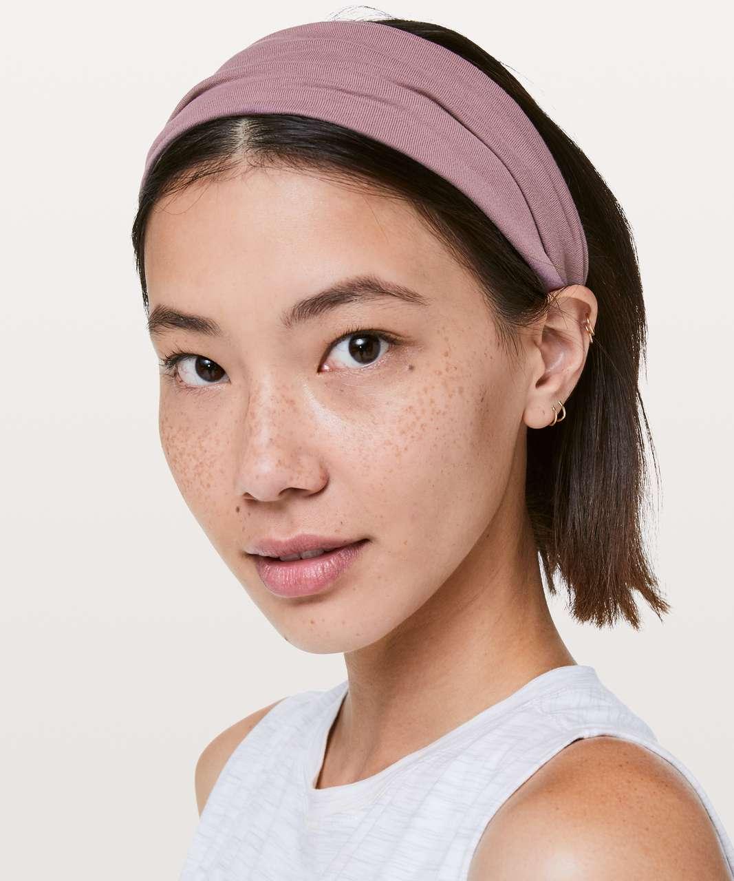 Lululemon Fringe Fighter Headband - Dusty Mauve / Heathered Dusty Pink