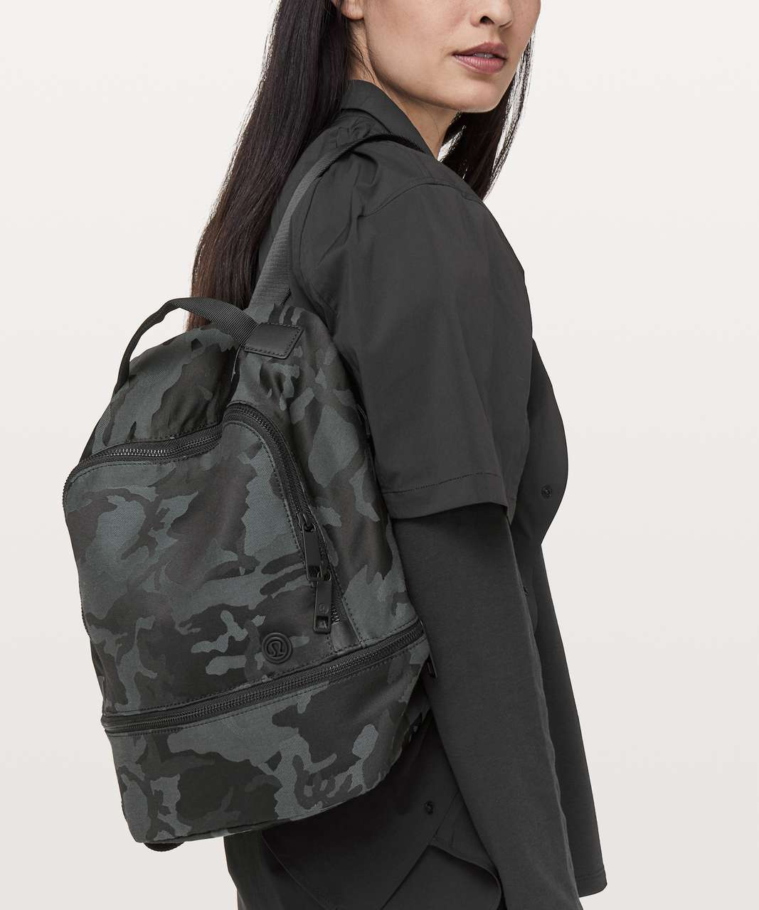 Lululemon City Adventurer Backpack Mini II *10L - Jacquard Camo Cotton Obsidian / Black