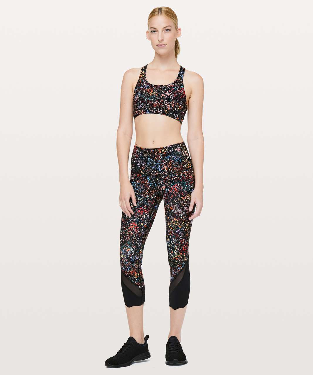 "Lululemon Wunder Under Crop II (Special Edition) *Scallop 24"" - Flowerescent Multi"