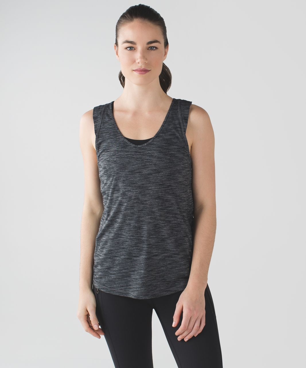 Lululemon Sweat It Out Tank - Heathered Black