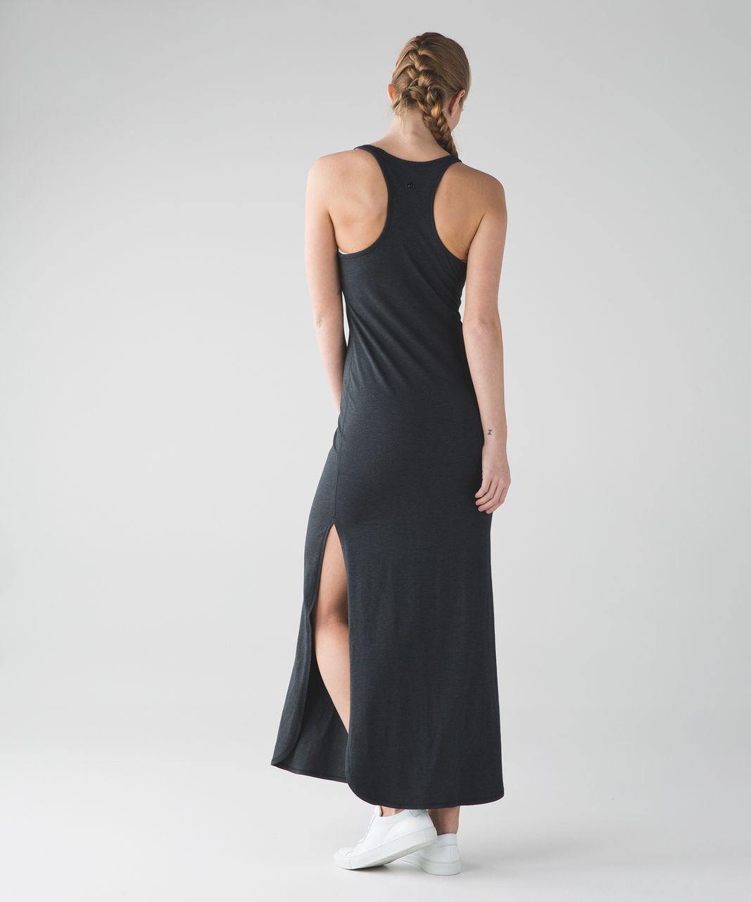 a60c04eb690 Lululemon Refresh Maxi Dress II - Heathered Black (First Release) - lulu  fanatics