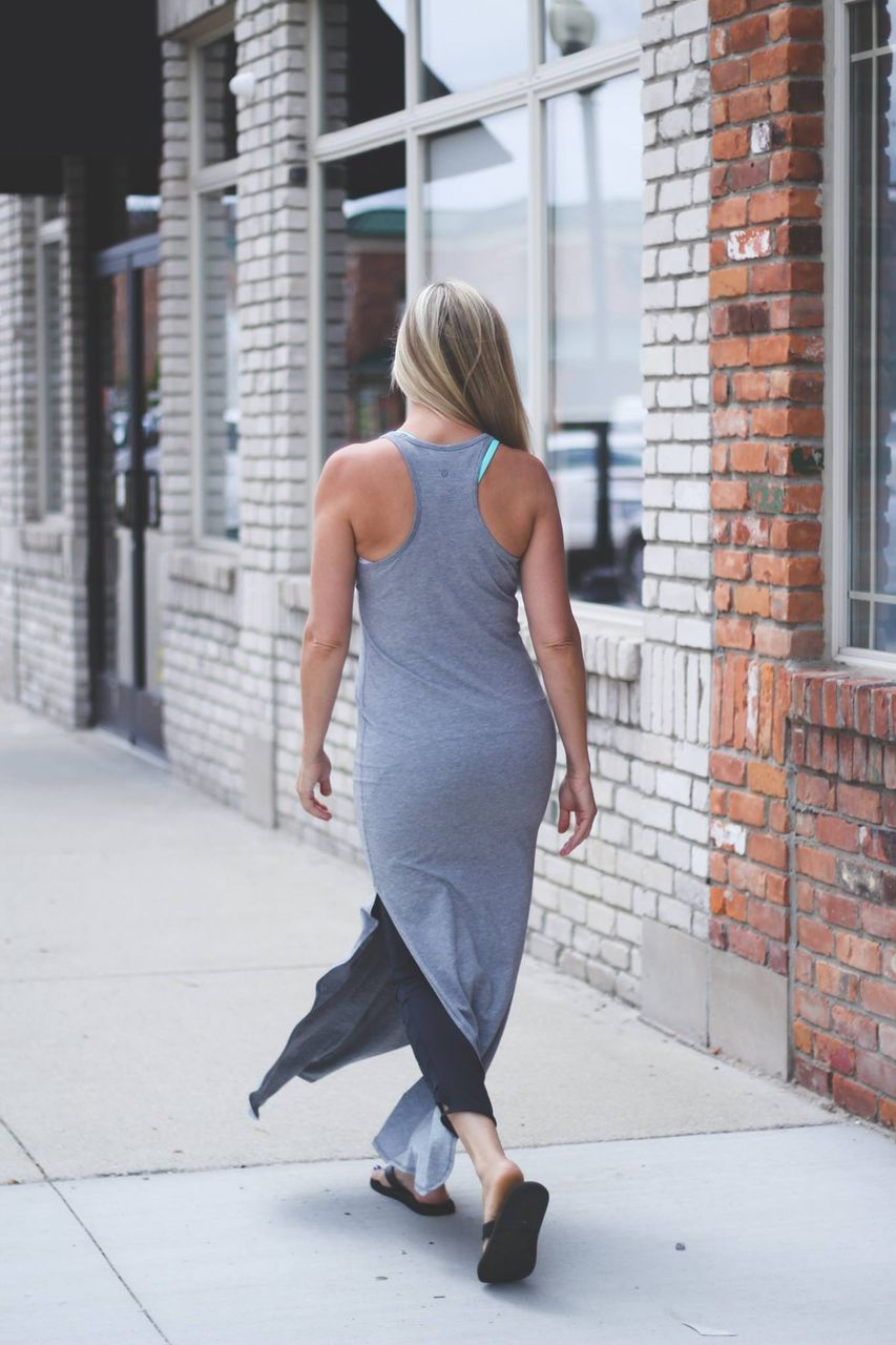 ff94f47dfd6 Lululemon Refresh Maxi Dress II - Heathered Medium Grey (First Release)
