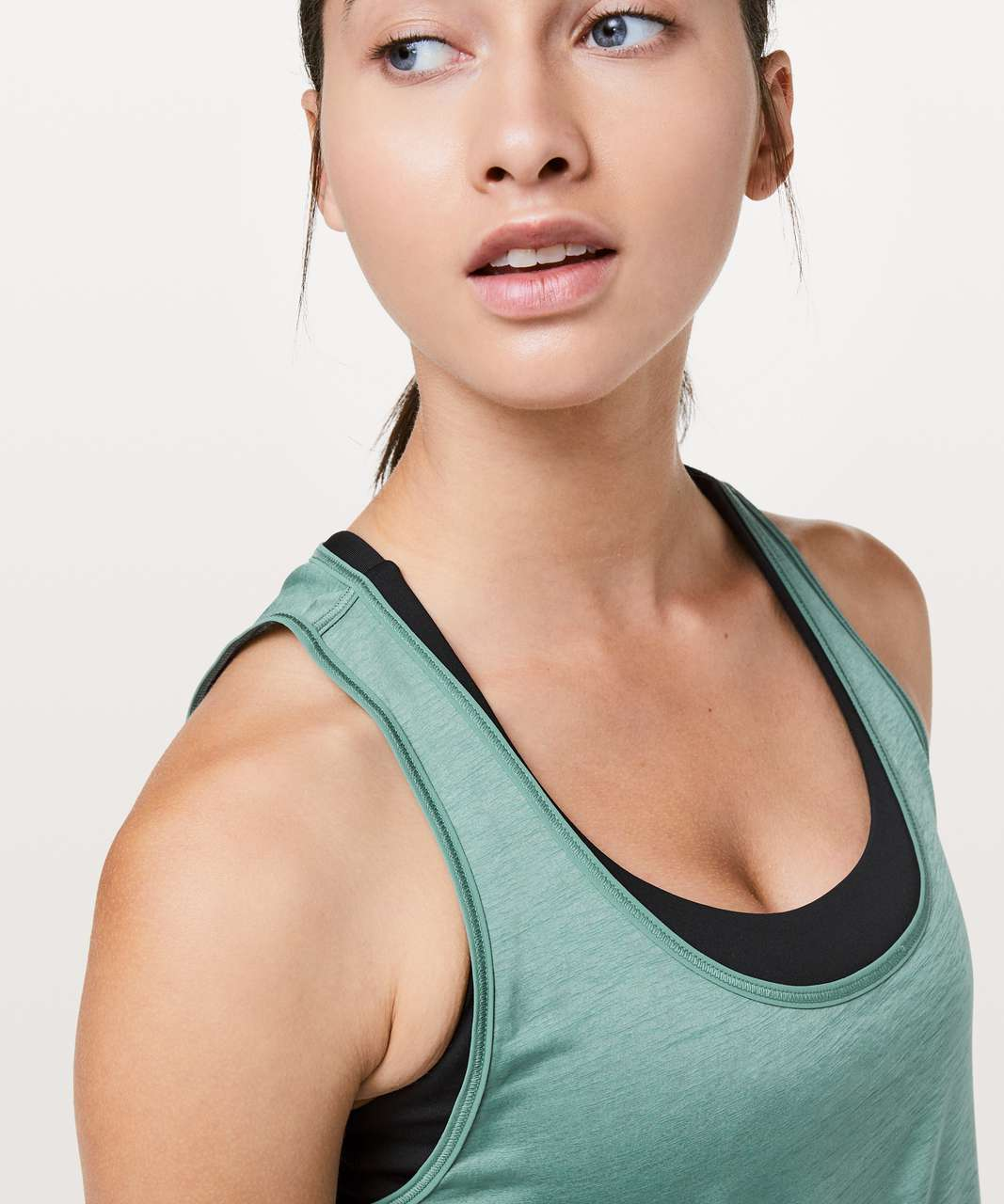 Lululemon Set The Course Tank - Frosted Pine