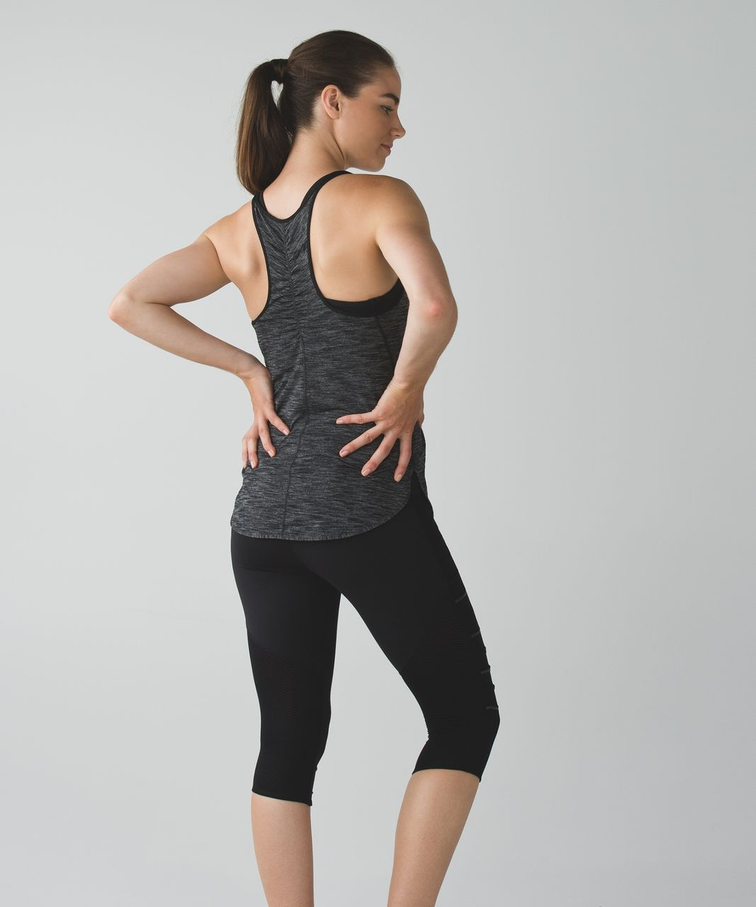 Lululemon What The Sport Singlet II - Heathered Black