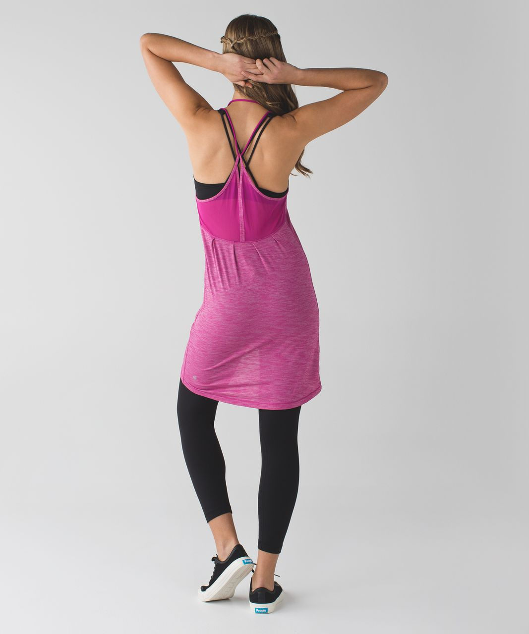 Lululemon Just Chillin Dress - Heathered Raspberry / Raspberry