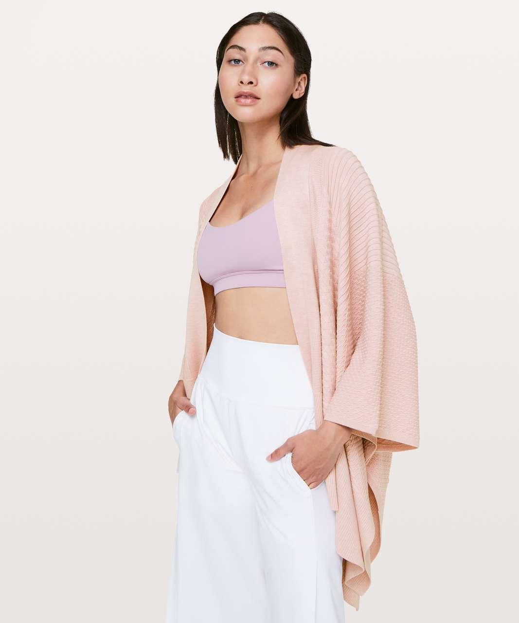 Lululemon Dream Weaver Wrap Heathered Misty Pink Lulu Fanatics