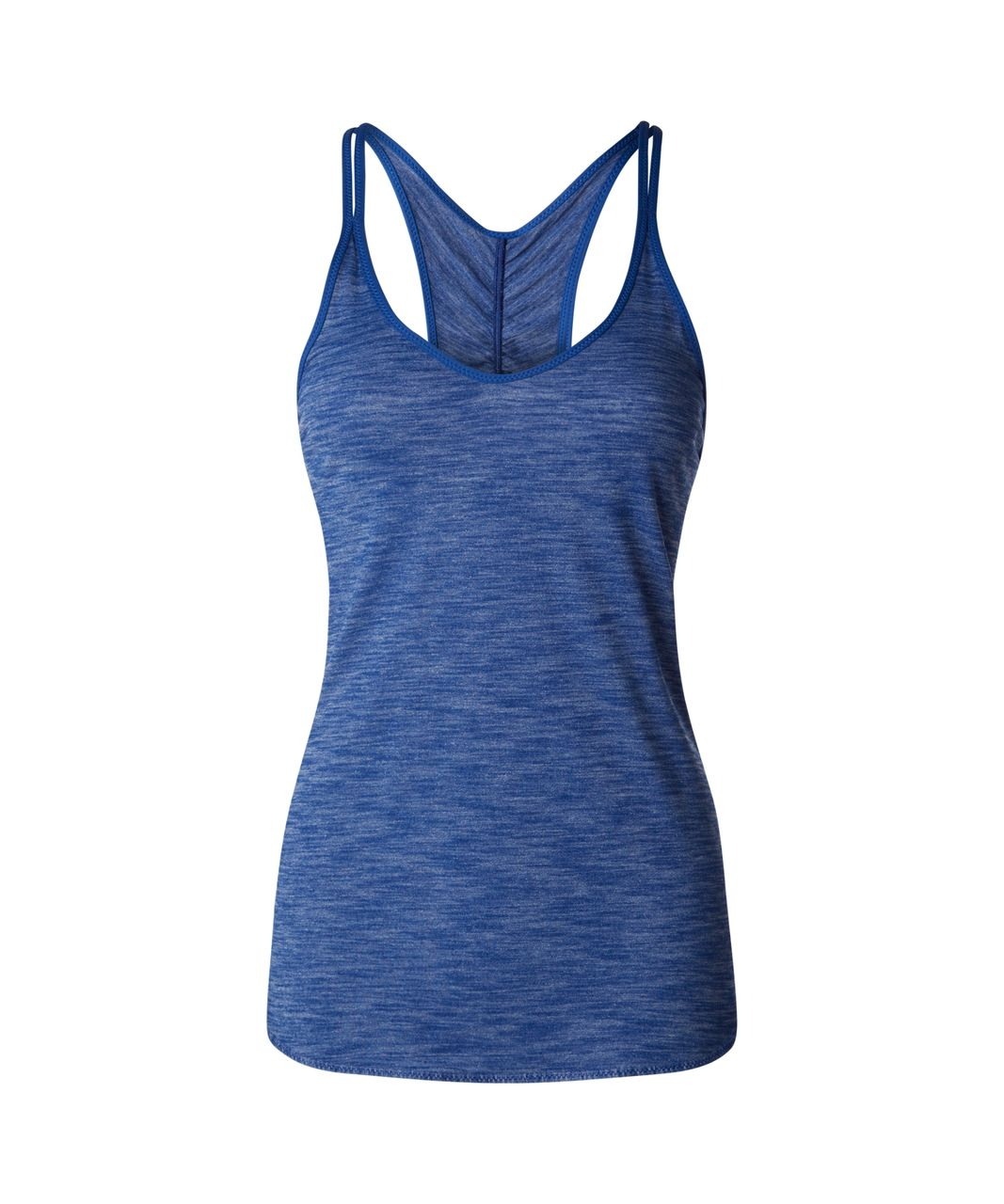 Lululemon What The Sport Singlet II - Heathered Sapphire Blue