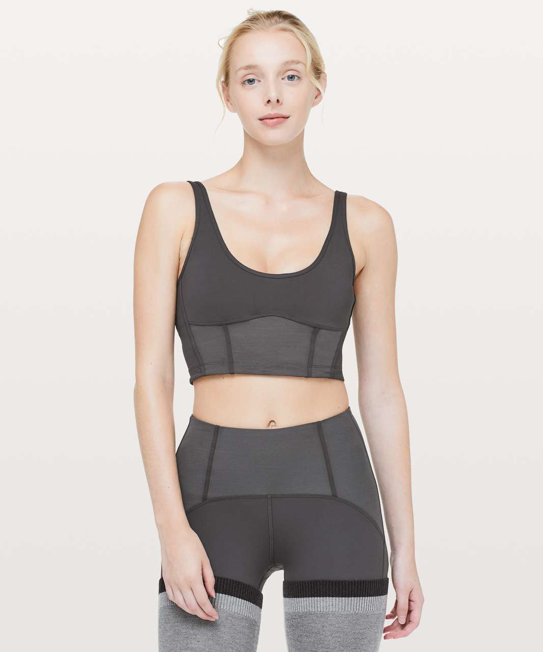Lululemon Principal Dancer Corsetry Bra - Soot