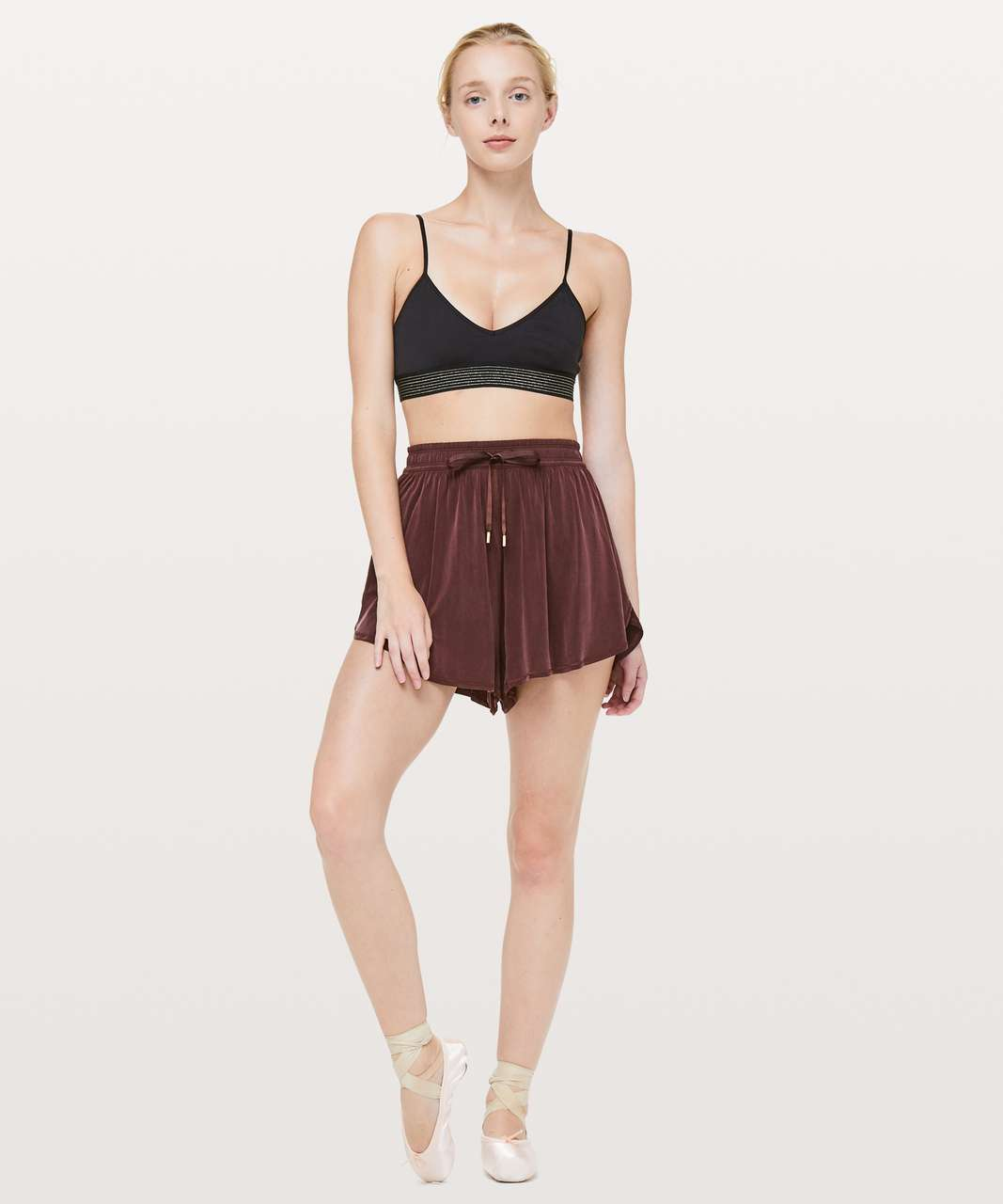 "Lululemon Principal Dancer Short *3"" - Midnight Maroon"