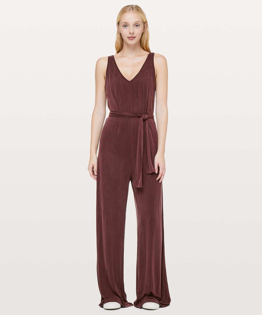 "Lululemon Principal Dancer Jumpsuit *31"" - Midnight Maroon"