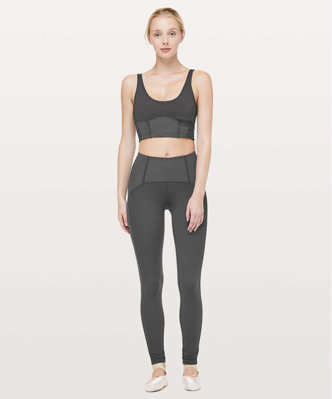 "Lululemon Principal Dancer Corsetry Tight *28"" - Soot"