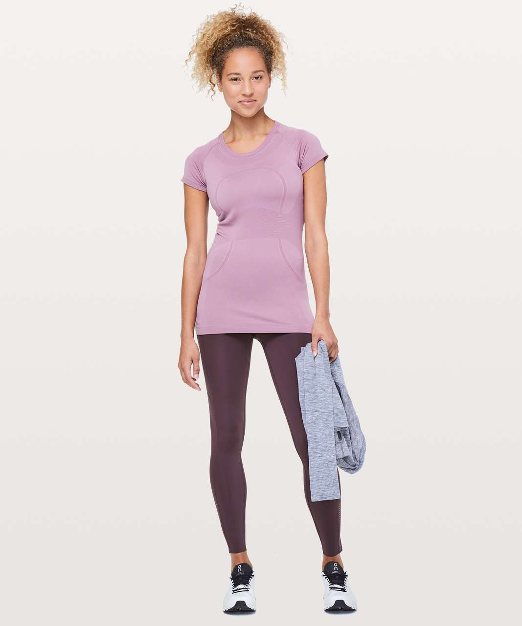 "Lululemon Fast & Free 7/8 Tight II *Nulux 25"" - Arctic Plum"