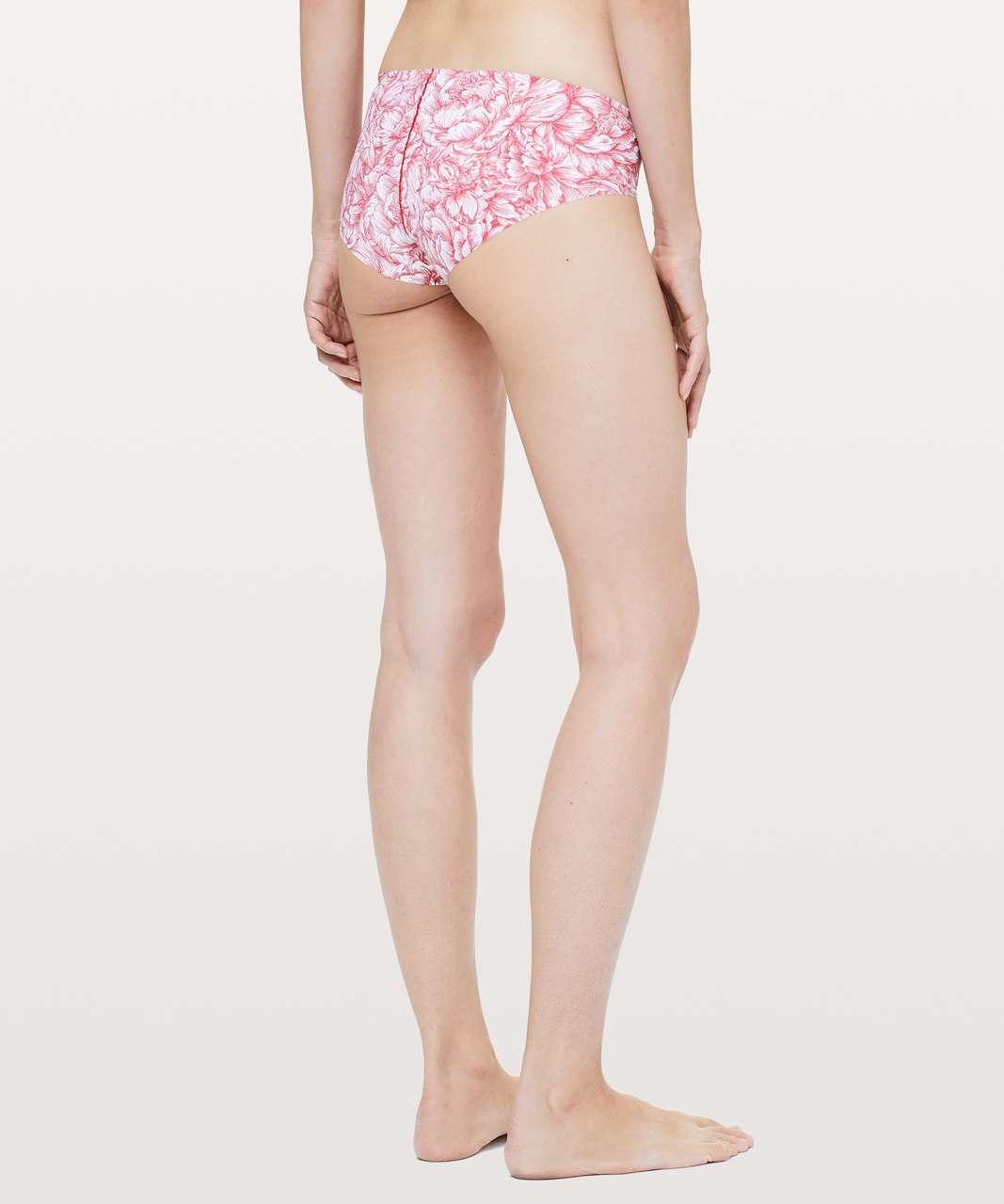 Lululemon Namastay Put Hipster - Floral Bloom White Star Ruby