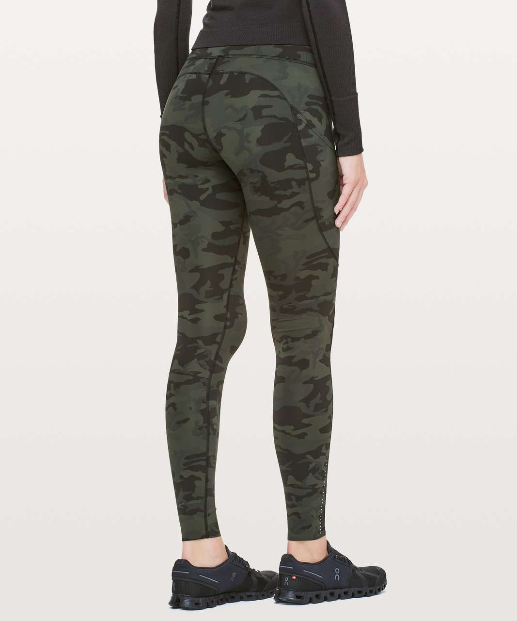 """Lululemon Fast & Free Full Length Tight *Nulux 28"""" - Incognito Camo Multi Gator Green"""