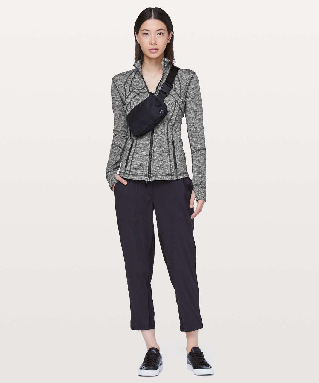Lululemon Define Jacket - Luon Variegated Knit Black Heathered Black