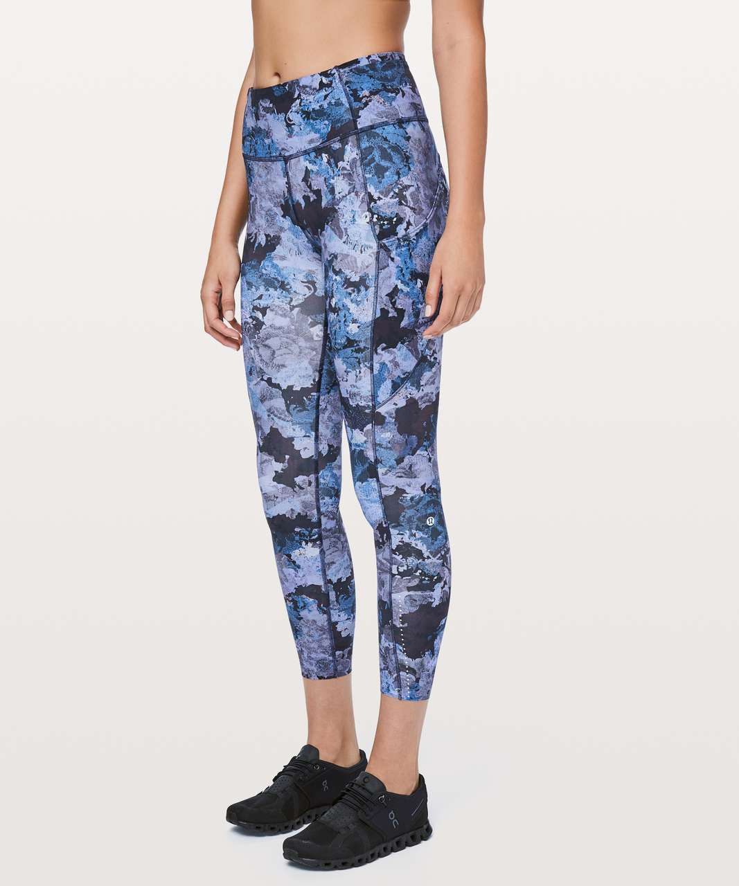 "Lululemon Fast & Free 7/8 Tight II *Nulux 25"" - Screen Camo Multi"