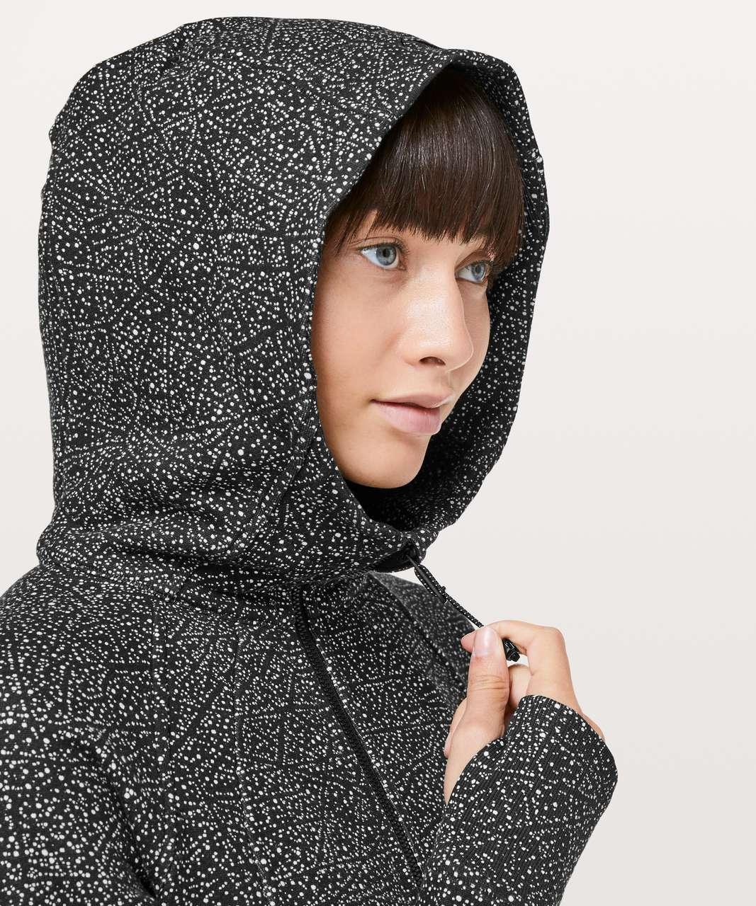 Lululemon Scuba Hoodie *Light Cotton Fleece - Night View White Black