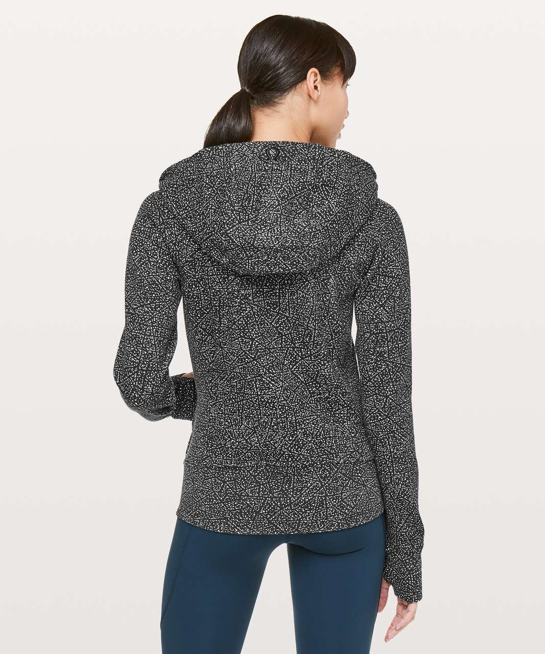 Lululemon Scuba Hoodie *Light Cotton Fleece - Night View White Black
