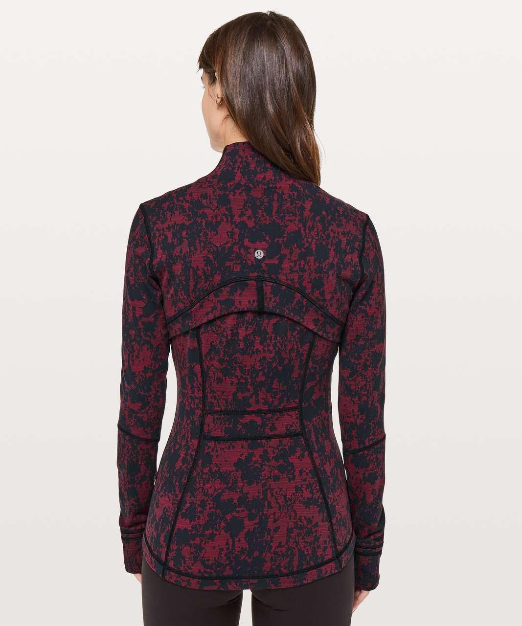 Lululemon Define Jacket - Scatter Blossom Jacquard Garnet Black