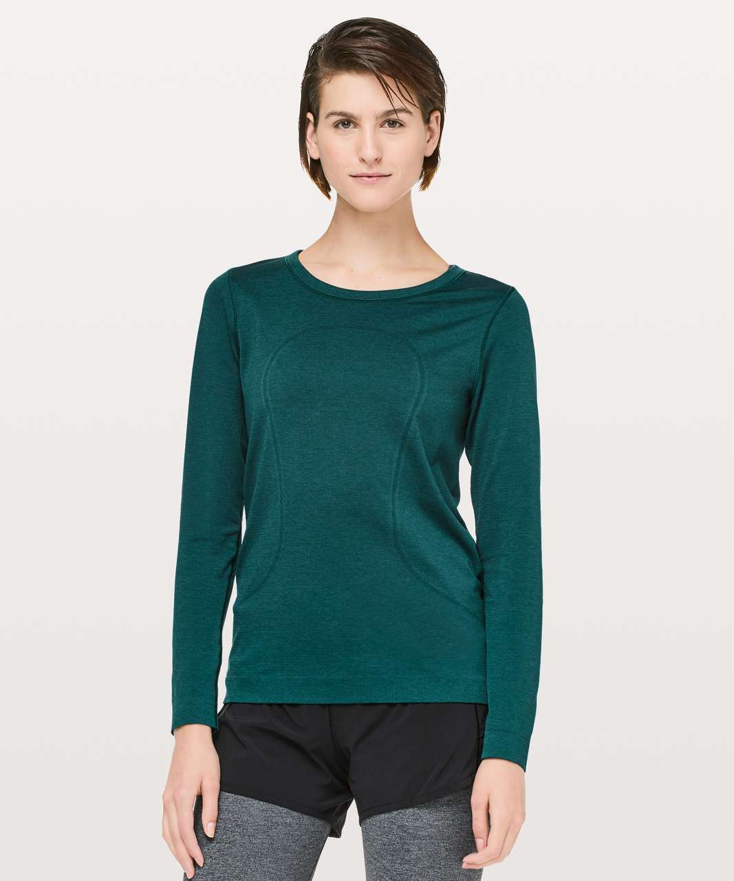 Lululemon Swiftly Tech Long Sleeve (Breeze) *Relaxed Fit - Royal Emerald / Royal Emerald
