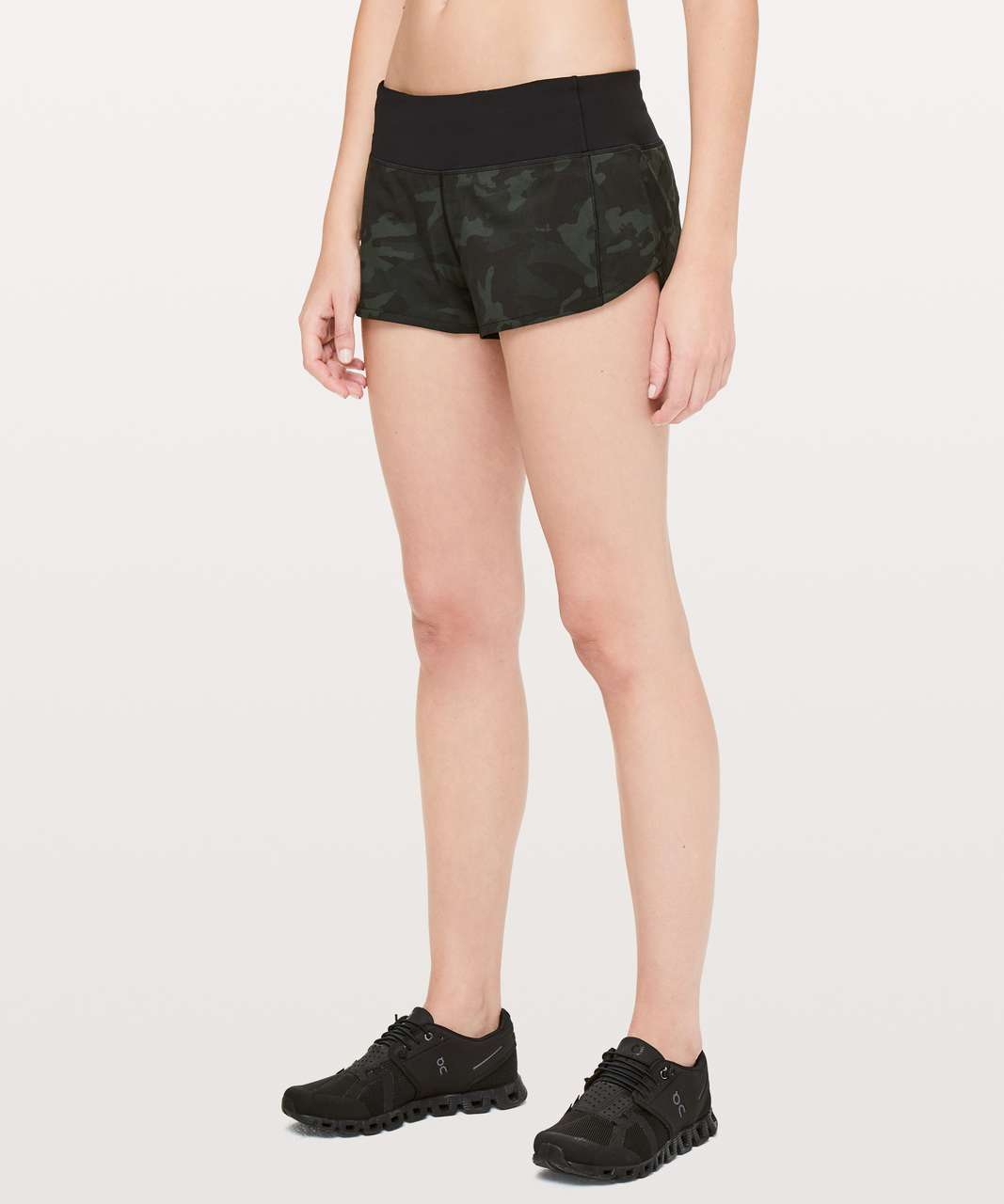 "Lululemon Speed Up Short *2.5"" - Incognito Camo Multi Gator Green / Black (First Release)"