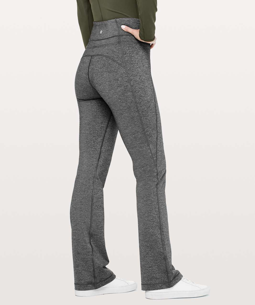 "Lululemon Groove Pant Bootcut 32"" - Heathered Black (Second Release)"