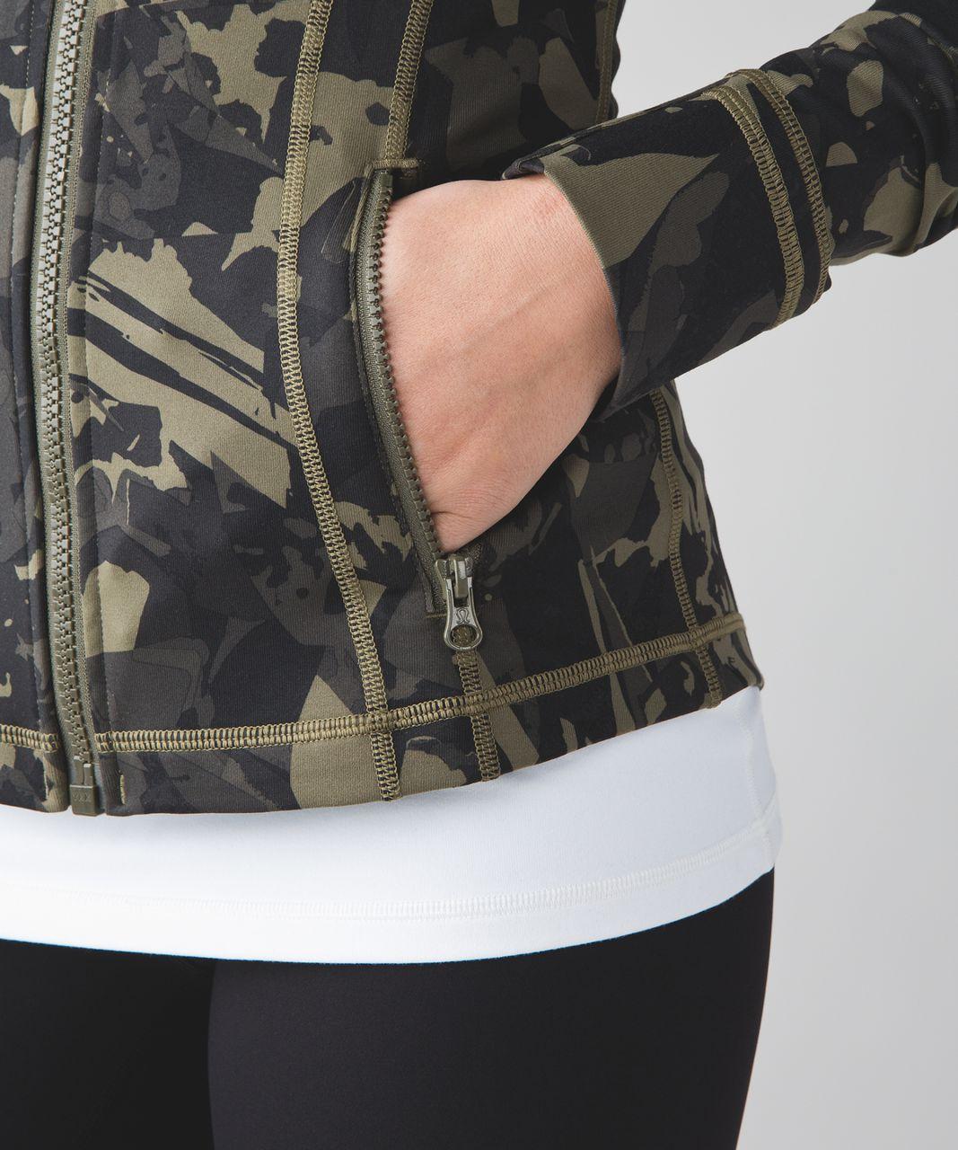 Lululemon Define Jacket - Pop Cut Fatigue Green Black