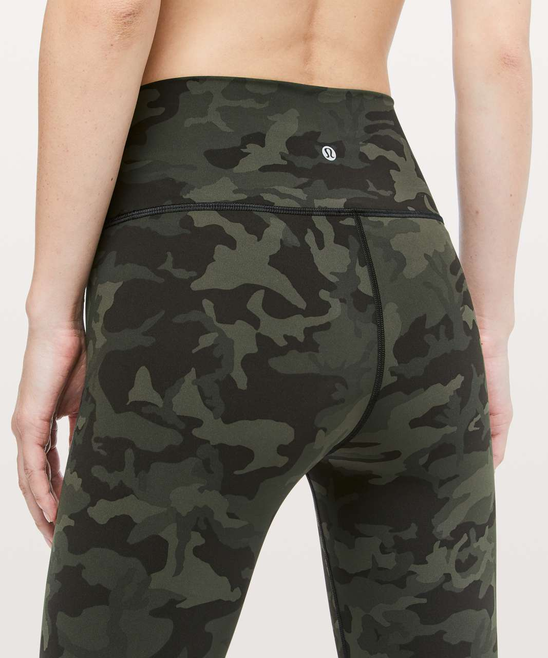 "Lululemon Wunder Under Crop (Hi-Rise) *Full-On Luxtreme 21"" - Incognito Camo Multi Gator Green"