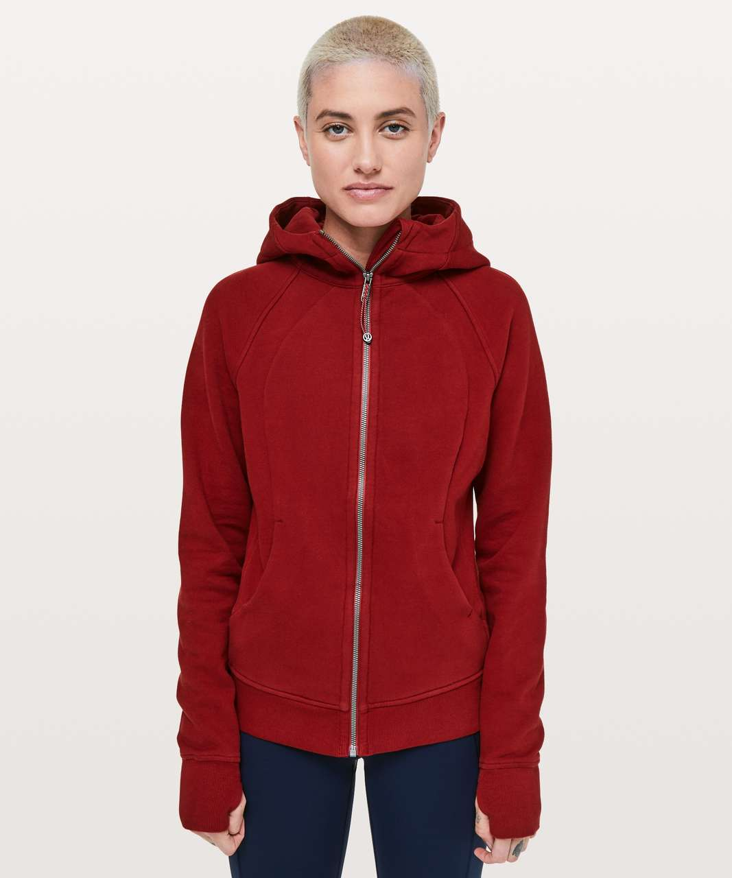 Lululemon Scuba Hoodie *Light Cotton Fleece - Dark Sport Red