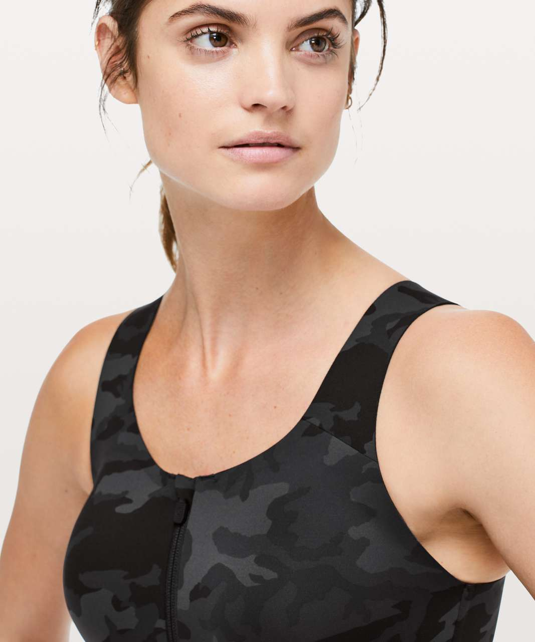 Lululemon Enlite Bra *Zip Front - Incognito Camo Multi Grey (Second Release)