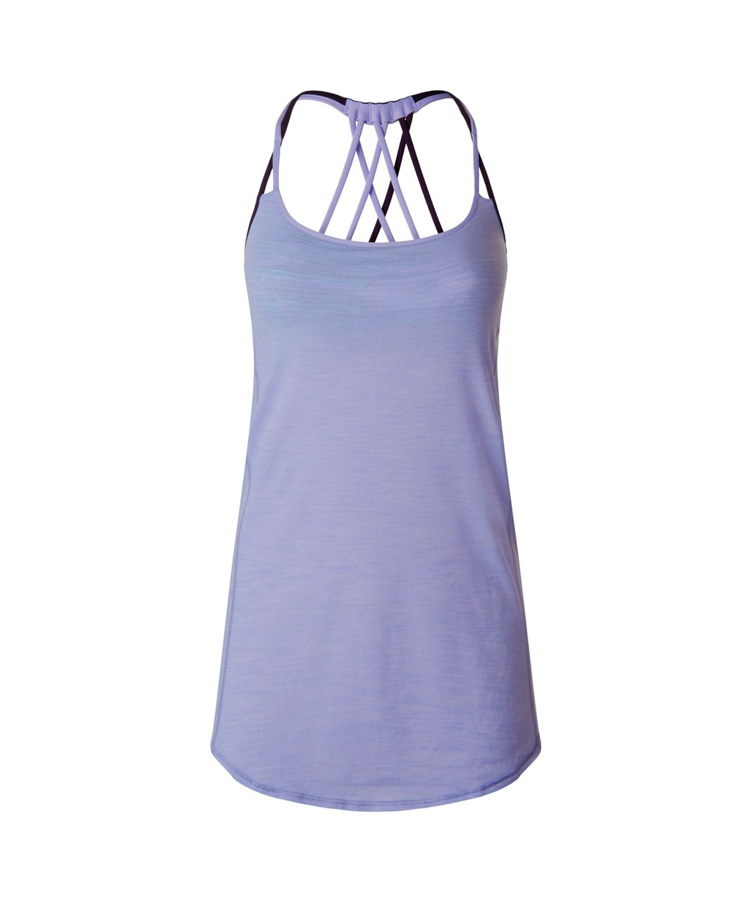 Lululemon Lighten Up Tank - Heathered Lilac / Blurry Belle Multi / Deep Zinfandel