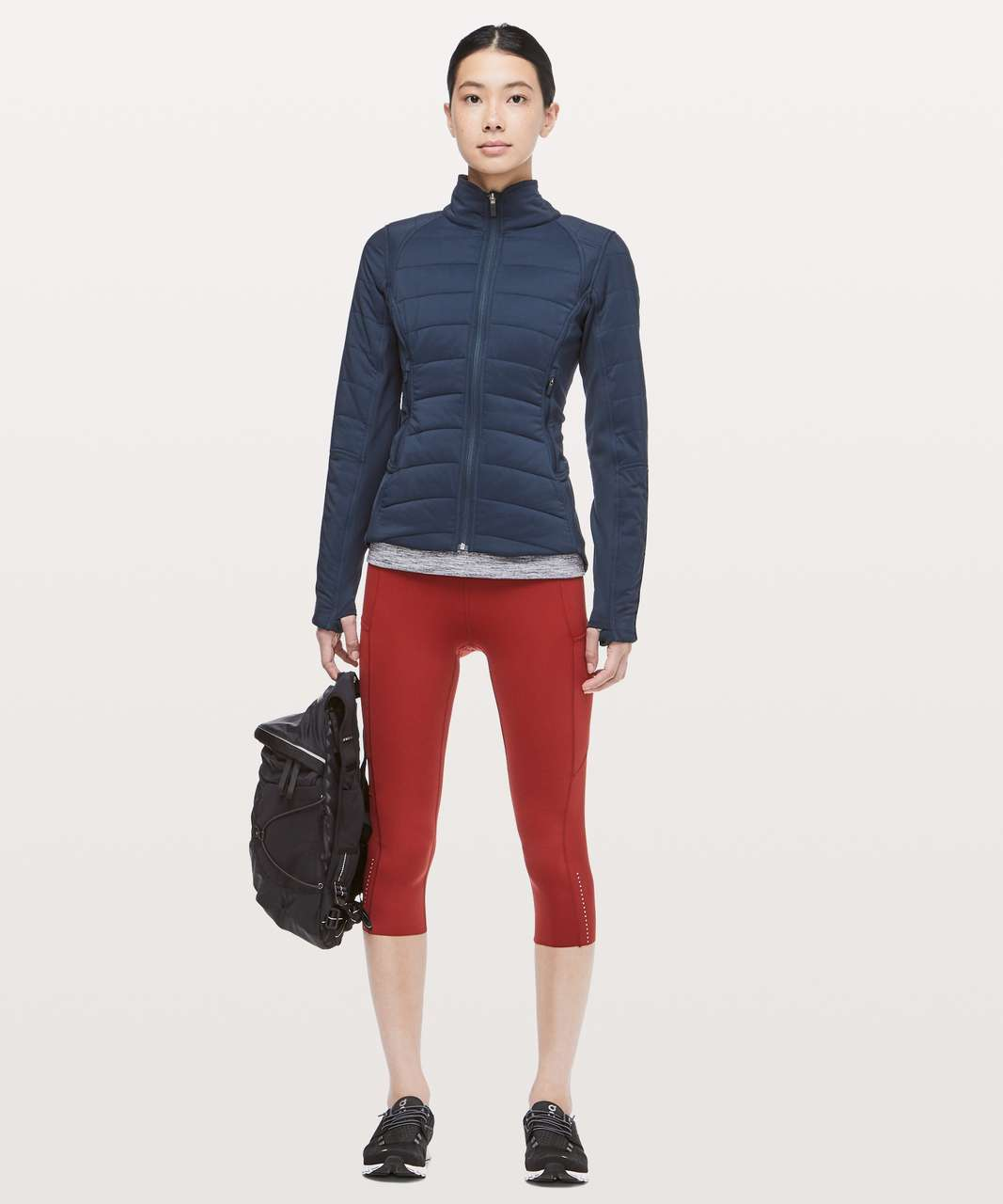 "Lululemon Fast & Free Crop II *Nulux 19"" - Dark Sport Red"