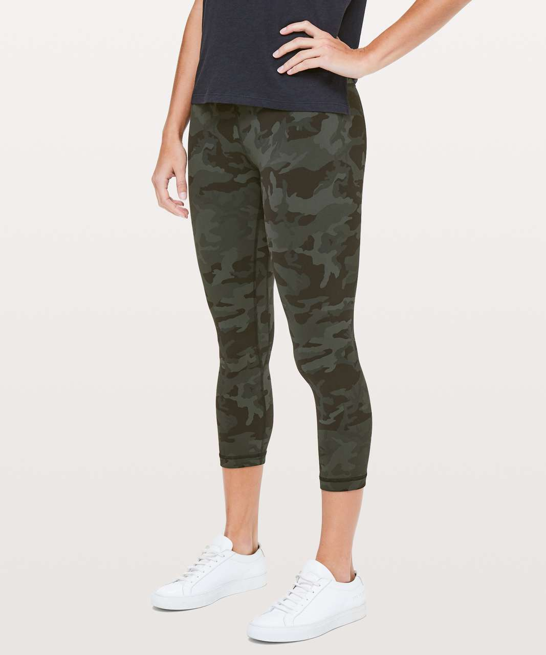 "Lululemon Align Crop *21"" - Incognito Camo Multi Gator Green (First Release)"