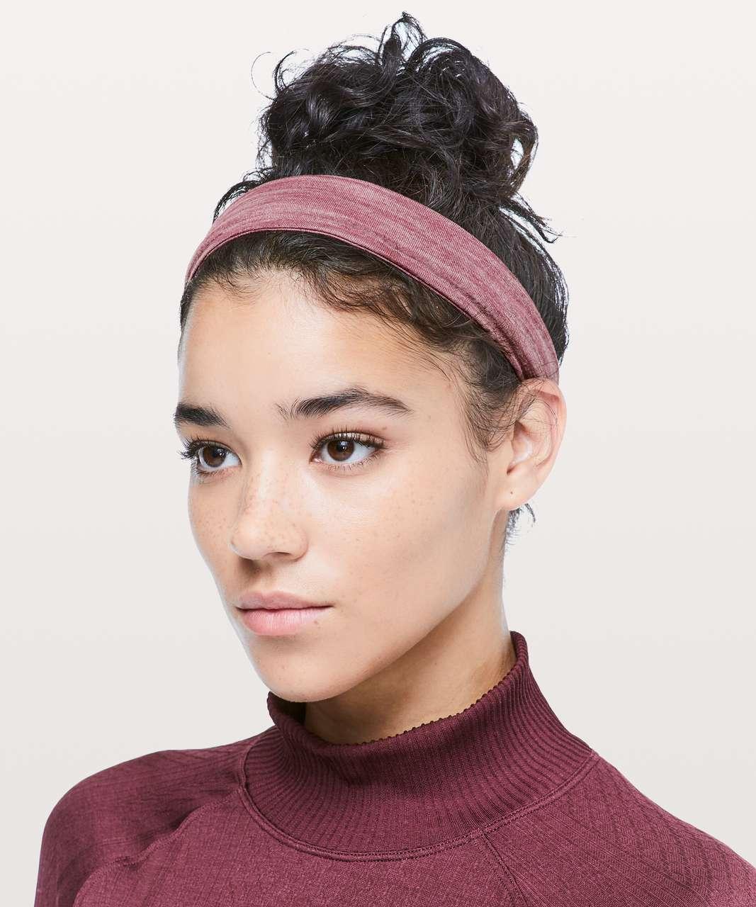 Lululemon Fringe Fighter Headband - Heathered Misty Merlot