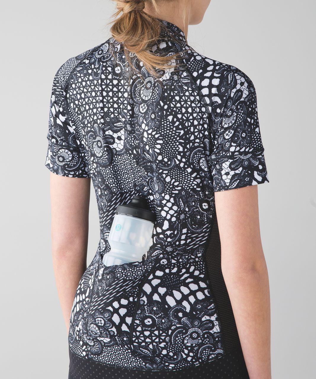 7d94e82ee Lululemon Shift Happens Jersey - Maxi Pretty Lace White Black   Black -  lulu fanatics