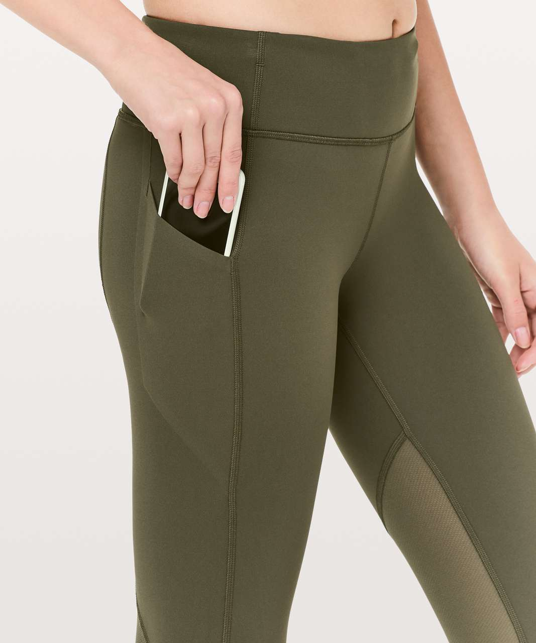 """Lululemon Pace Rival Crop *Full-On Luxtreme 22"""" - Dark Olive"""