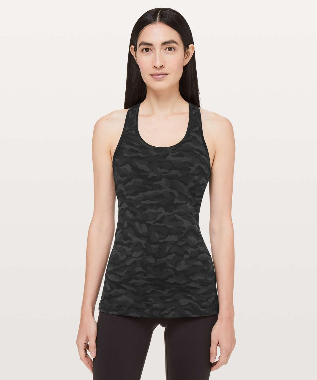 Lululemon Cool Racerback II - Sequoia Camo Print Deep Coal Black