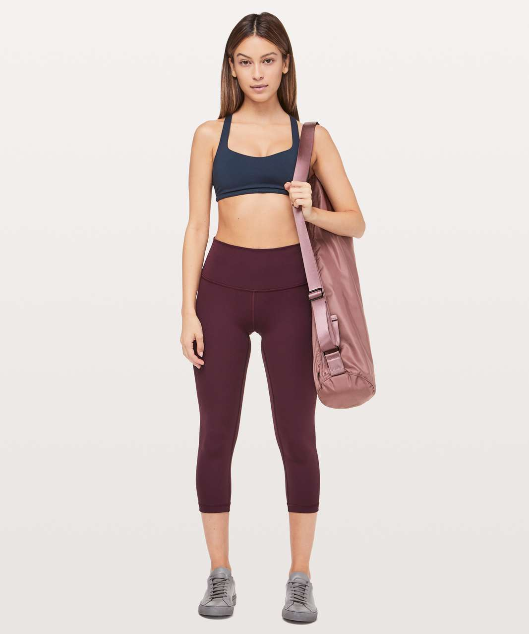 "Lululemon Wunder Under Crop (Hi-Rise) *Full-On Luxtreme 21"" - Dark Adobe"