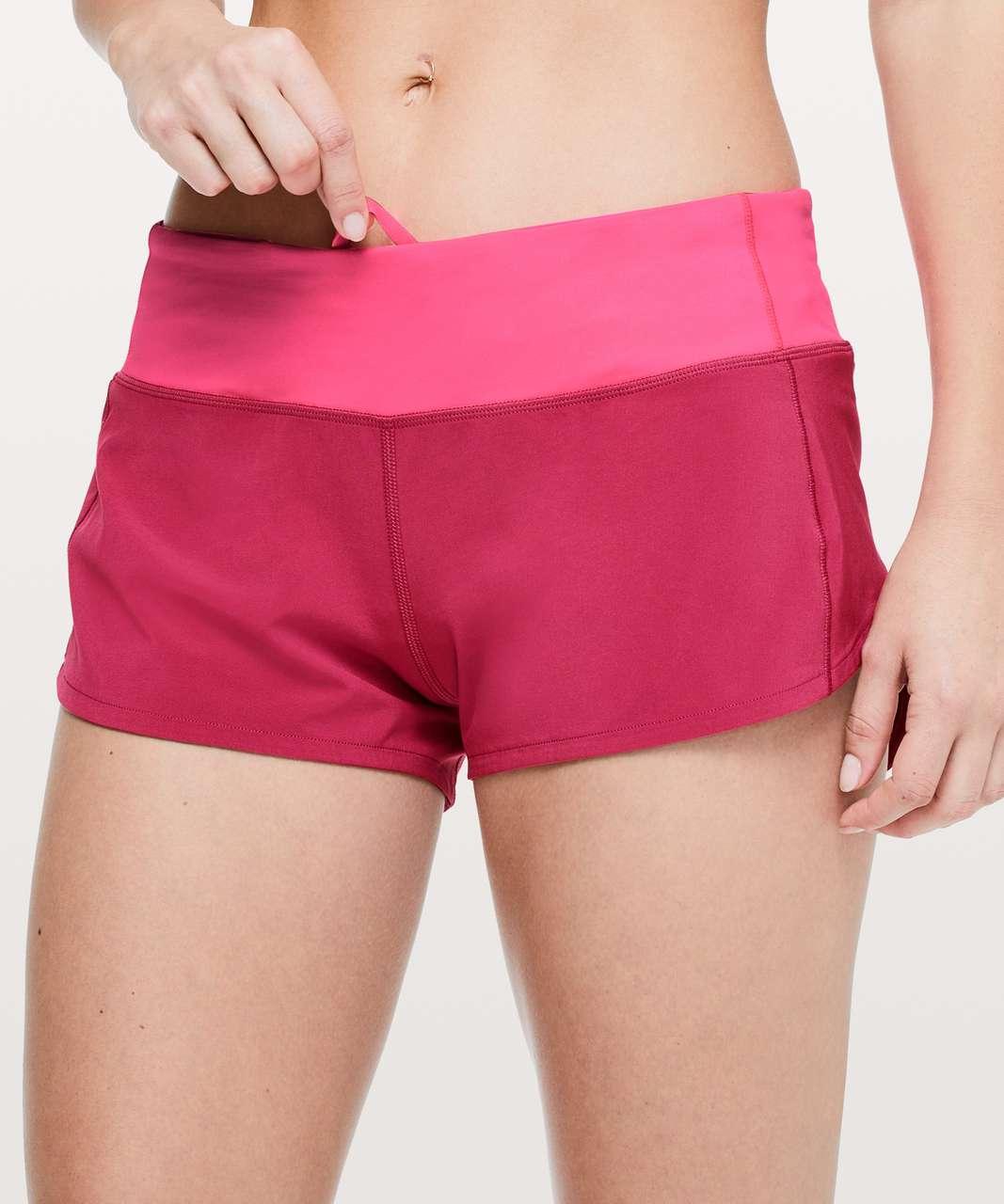 """Lululemon Speed Up Short *2.5"""" - Violet Red / Neon Pink"""