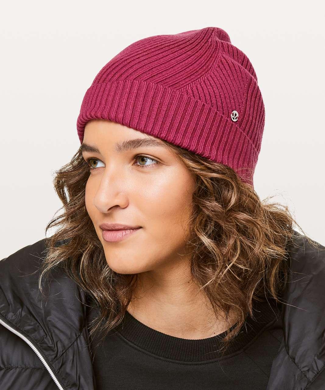 3904b5763 Lululemon Twist Of Cozy Knit Beanie - Violet Red